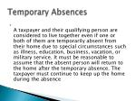 temporary absences