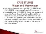 case studies water and wastewater