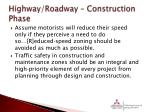 highway roadway construction phase1