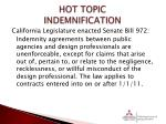 hot topic indemnification2