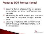proposed dot project manual
