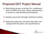 proposed dot project manual1