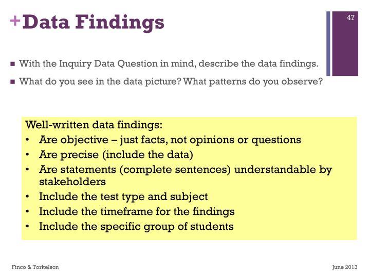 Data Findings