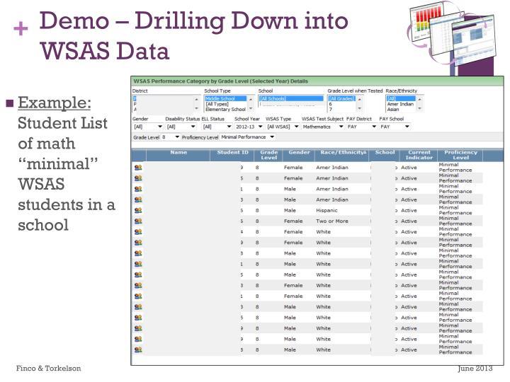Demo – Drilling Down into