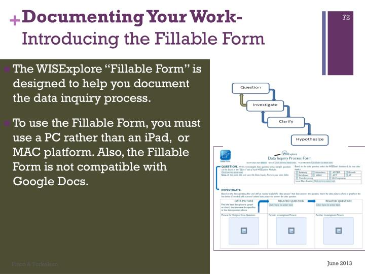 Documenting Your Work-