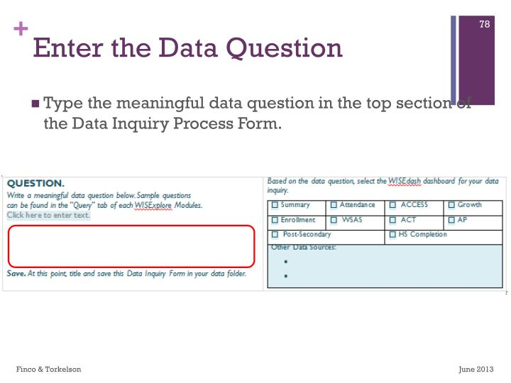 Enter the Data Question