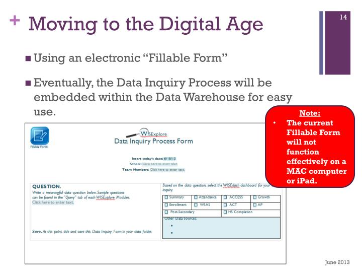 Moving to the Digital Age