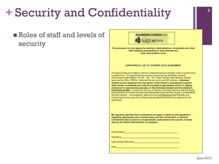 Security and Confidentiality