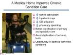 a medical home improves chronic condition care