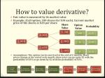 how to value derivative