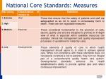 national core standards measures