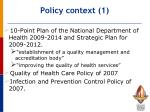 policy context 1