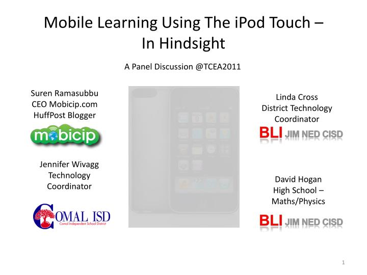 mobile learning using the ipod touch in hindsight n.