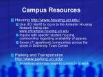 campus resources