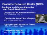 graduate resource center grc4