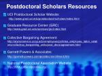 postdoctoral scholars resources