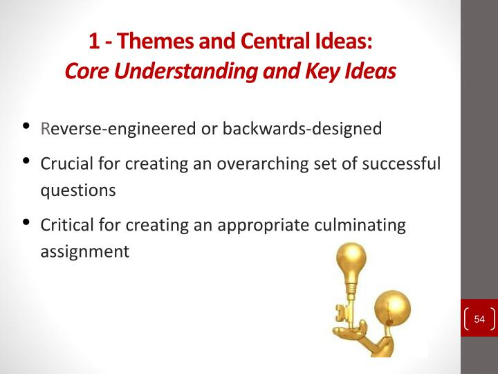 1 - Themes and Central Ideas: