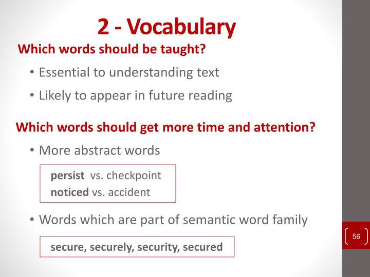 2 - Vocabulary
