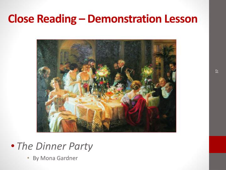 Close Reading – Demonstration Lesson