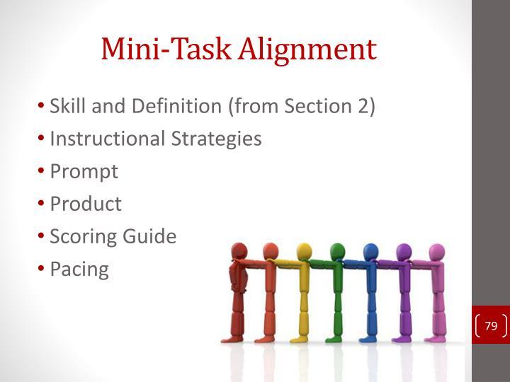 Mini-Task Alignment