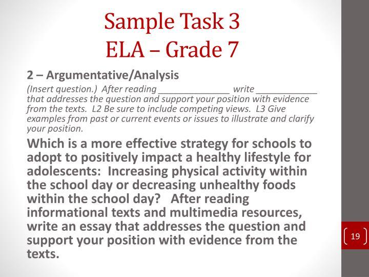 Sample Task 3
