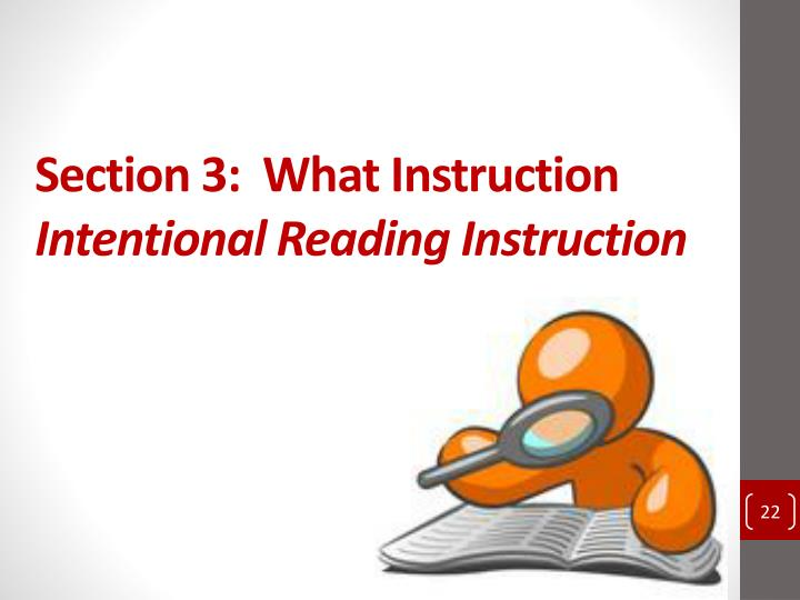 Section 3:  What Instruction