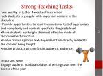 strong teaching tasks