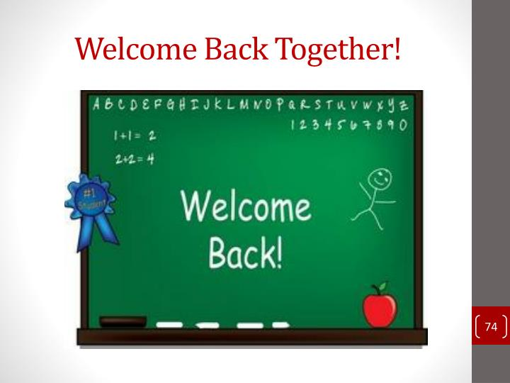 Welcome Back Together!