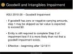 goodwill and intangibles impairment1
