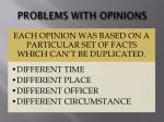 problems with opinions1