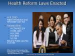 health reform laws enacted