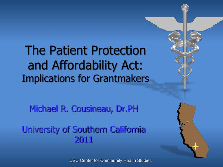 the patient protection and affordability act implications for grantmakers n.