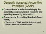 generally accepted accounting principles gaap