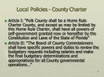 local policies county charter