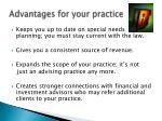 advantages for your practice