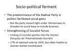 socio political ferment