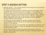 step 2 agenda setting