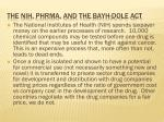 the nih phrma and the bayh dole act