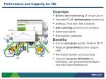 performance and capacity for vdi