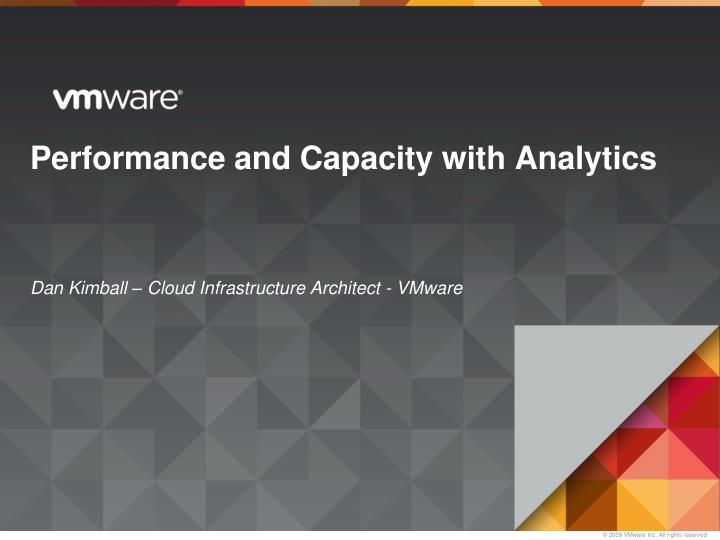 performance and capacity with analytics n.
