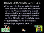 it s my life activity gps 1 6