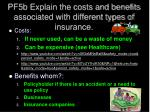 pf5b explain the costs and benefits associated with different types of insurance1