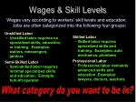 wages skill levels