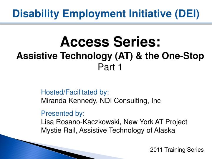 disability employment initiative dei n.