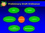 preliminary draft ordinance