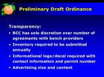 preliminary draft ordinance16