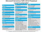 microsoft dynamics nav 2013 perpetual local functionality