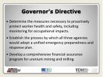 governor s directive