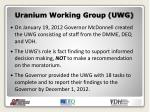 uranium working group uwg