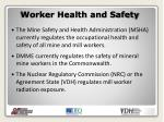worker health and safety